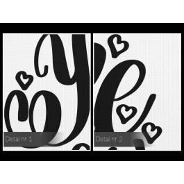 You make me superhappy - nowoczesny obraz do salonu - 50x70 cm