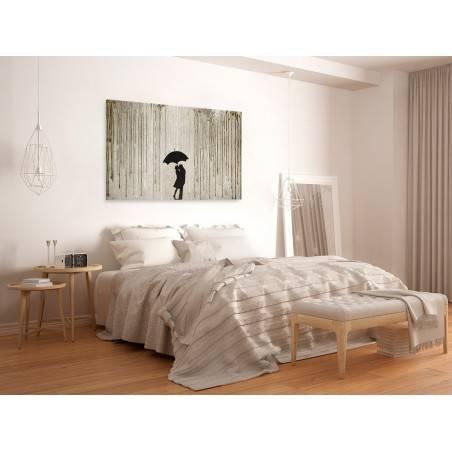 Miłosna enklawa - nowoczesny obraz na płótnie - 120x80 cm