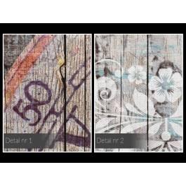 Prowansalski motyw szczęścia - nowoczesny obraz na płótnie - 120x80 cm