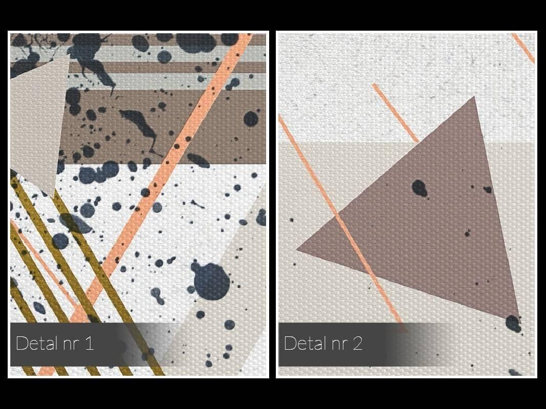 Dekonstrukcja - nowoczesny obraz na płótnie - 120x80 cm