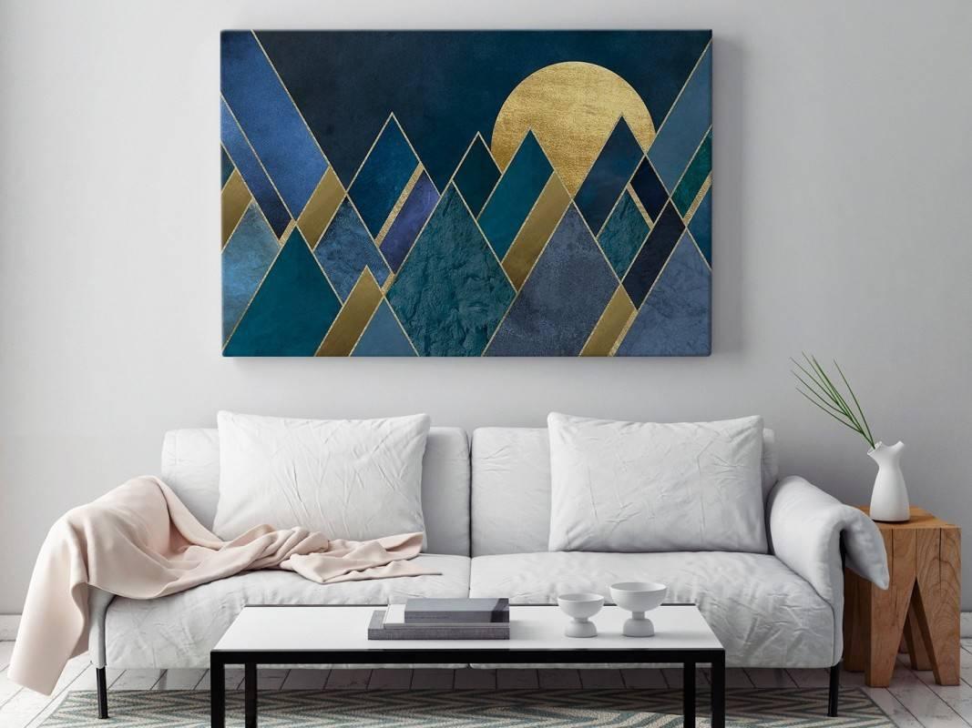 Egipskie noce - nowoczesny obraz na płótnie - 120x80 cm