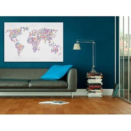 … i kropka - nowoczesny obraz do salonu - 120x80 cm