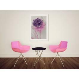 Kwiat w modnym fiolecie - nowoczesny obraz na płótnie - 50x70 cm