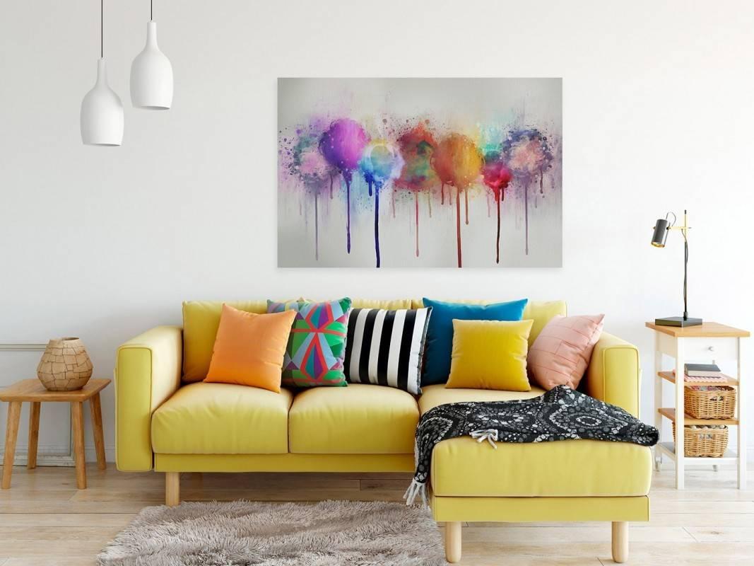 Absorpcja - nowoczesny obraz na płótnie - 120x80 cm