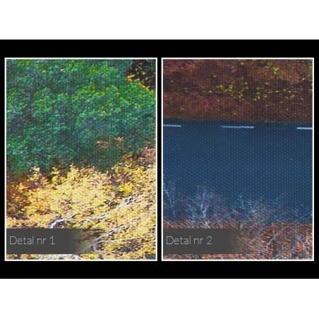 Patchworkowa jesień - fotoobraz na płótnie - 120x80 cm