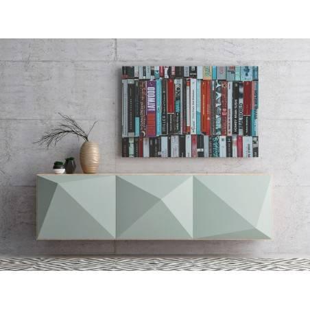 Domowa biblioteczka - zdjęcie na płótnie - 120x80 cm