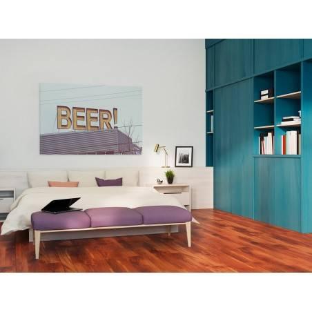 Beer! - nowoczesny obraz na płótnie - 120x80 cm