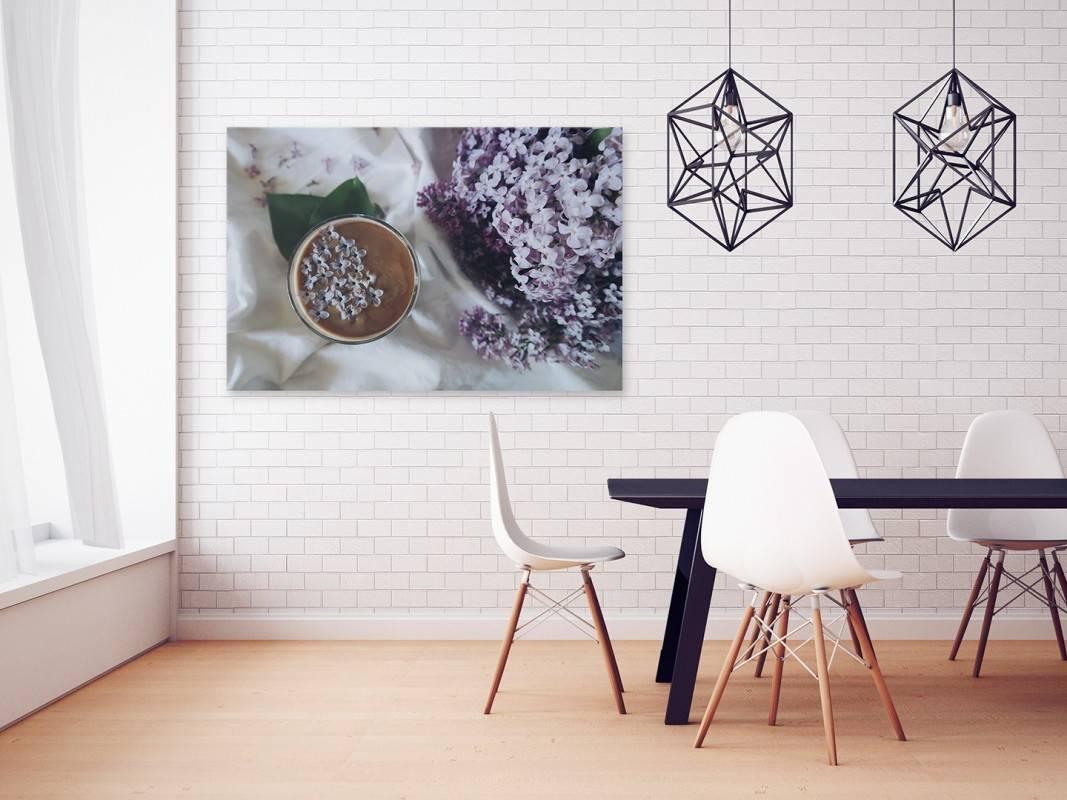 Lila bez - fotoobraz do kuchni - 120x80 cm
