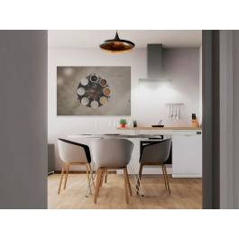 Kofeinowa ruletka - fotoobraz do kuchni - 120x80 cm