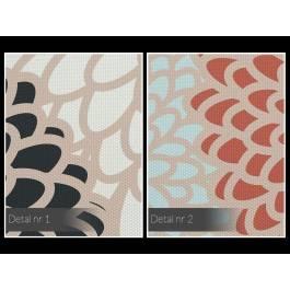 Złociste chryzantemy - nowoczesny obraz do sypialni