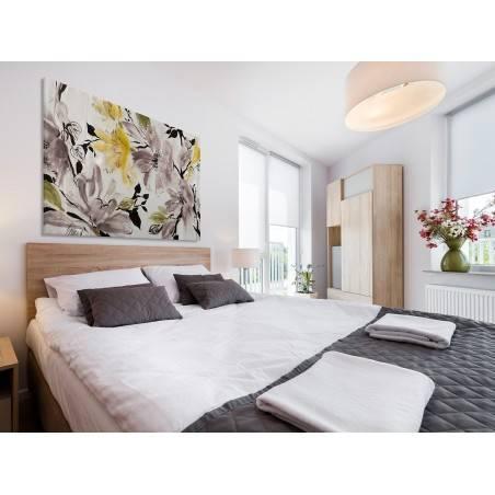Wiśniowy sad - nowoczesny obraz do sypialni - 120x80 cm