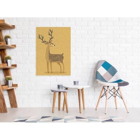 Jeleń Ambroży - nowoczesny obraz na płótnie - 50x70 cm