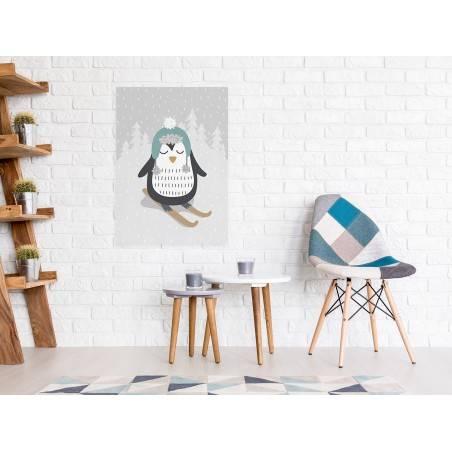 Pingwin Cezary - nowoczesny obraz na płótnie