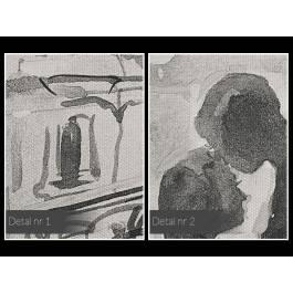 Most miłości - nowoczesny obraz na płótnie - 120x80 cm