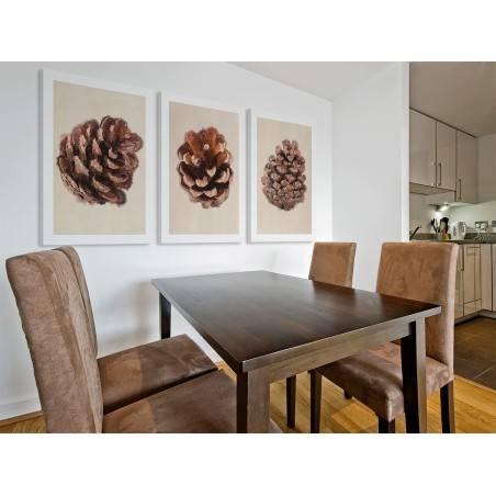 Leśnych szyszek czar - nowoczesny obraz na płótnie - 3szt. 50x70 cm