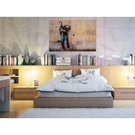 Banksy - Steve Jobs - nowoczesny obraz na płótnie - 120x80 cm
