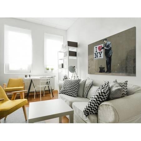 Banksy - I love NY - nowoczesny obraz na płótnie - 120x80 cm