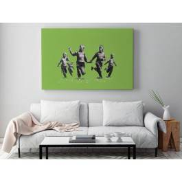 Banksy - Happy SWAT team - nowoczesny obraz na płótnie - 120x80 cm