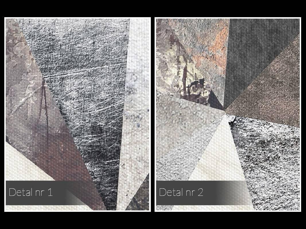Skalne miasto - nowoczesny obraz na płótnie - 120x80 cm