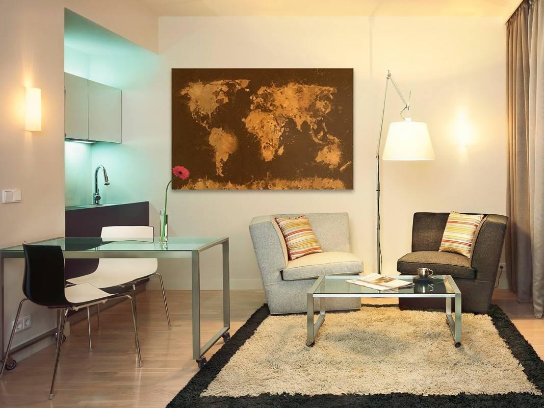 Mapa świata - nowoczesny obraz na płótnie - 120x80 cm