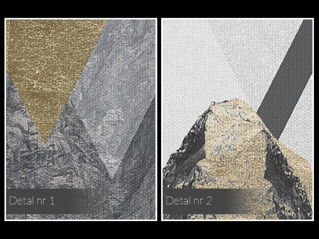 Majestatyczność gór - nowoczesny obraz na płótnie - 120x80 cm