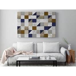 Trójkąty i kwadraty - nowoczesny obraz na płótnie